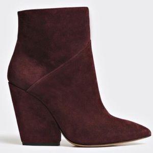 NWOT IRO Lasida Burgundy Suede Ankle Boots